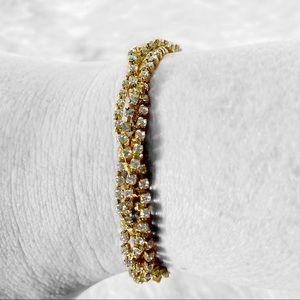 NWT JCrew 14K Gold Plated Twisted Tassel Bracelet